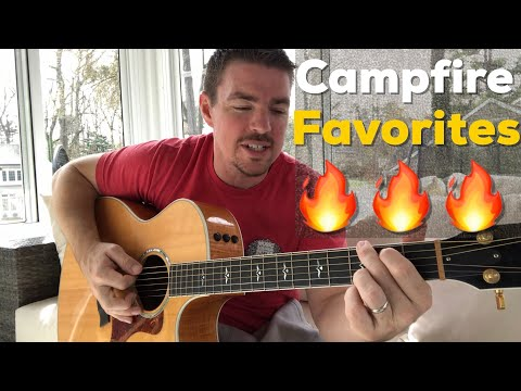 12 Campfire Favorites | Brett Young, Alabama, Tim McGraw, Garth Brooks And More! - CountrySongTeacher