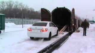 Выгрузка 8-ми автомобилей компании Токидоки 16 января 2015 г