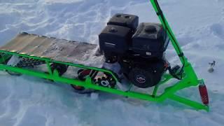 Мини снегоходы для рыбалки своими руками