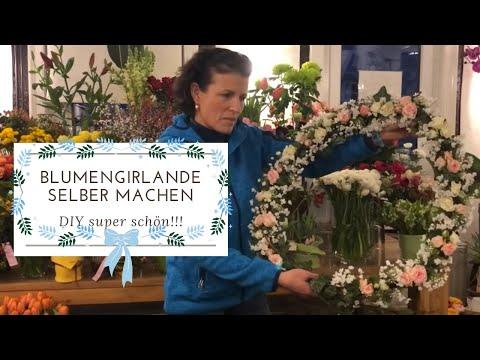 Blumengirlande für Hochzeit, Taufe, Kommunion von Margit Strak