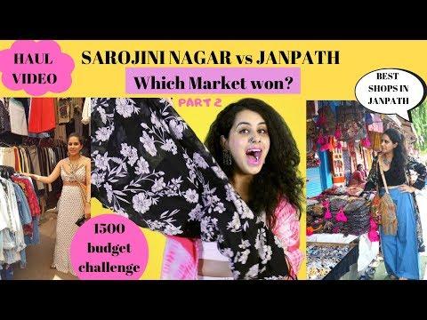 Download Sarojini Nagar Vs Janpath Budget Shopping Haul