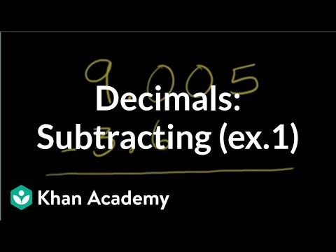 Subtracting decimals 2