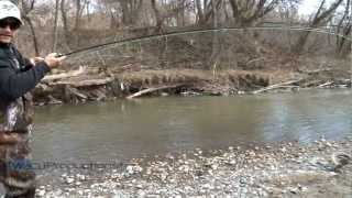 preview picture of video 'Oshawa Creek Rainbow Trout Fishing'