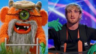Logan paul is the grandpa Monster!!!masked singer | monster is unmasked