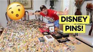 HUGE DISNEY PIN COLLECTION! *700 Pins*
