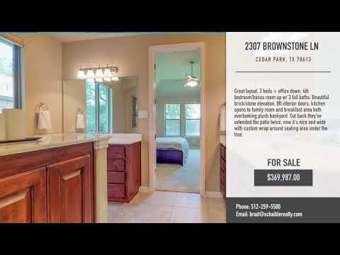 2307 Brownstone, Cedar Park, TX 78613