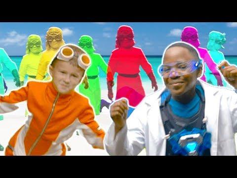Dancing Gummy Clones Army ⚡Superzuzaa Dance Challenge ⚡Superheroes in Real Life