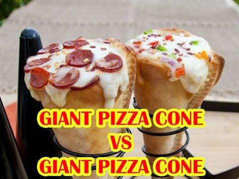 GIANT PIZZA CONE VS GIANT PIZZA CONE 2017