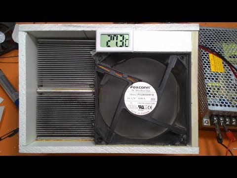 How to Make a Portable Air Conditioner at Home using Thermoelectric Peltier Module, electronics