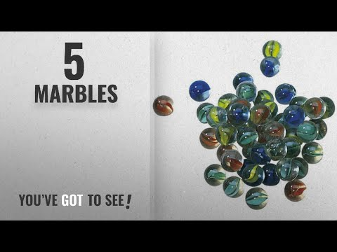 Top 10 Marbles [2018]: Cat's Eye Marbles - 50 In A Bag + Spares (against Damage)