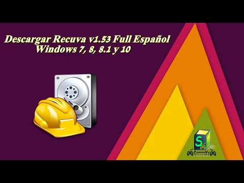 Video Descargar Recuva Full en Español para Windows 7, 8, 8.1 y 10