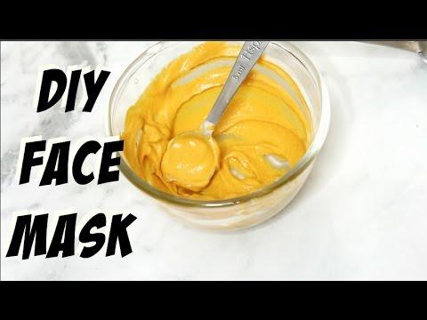 Facial mask na may sagging balat