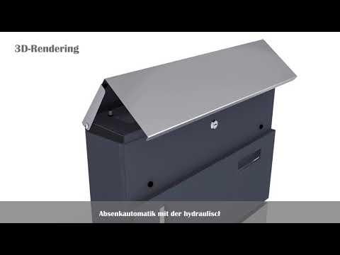 Deco4home Briefkasten Wandbriefkasten Edelstahl mit Zeitungsfach