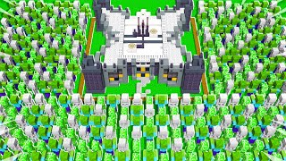 10,000 MOBS vs 9999x STRONG MINECRAFT BASE!