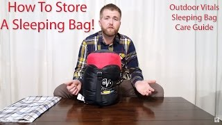 How To Store A Sleeping Bag - Outdoor Vitals