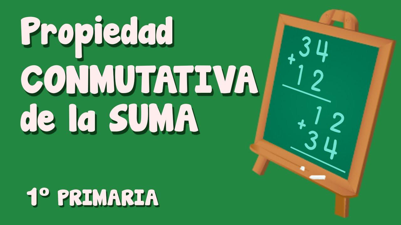 Propiedad conmutativa de la suma para niños de Primaria