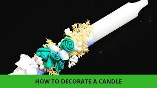 How to decorate baptism candle