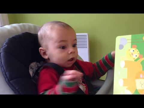 Baby hører løvebrøl for første gang