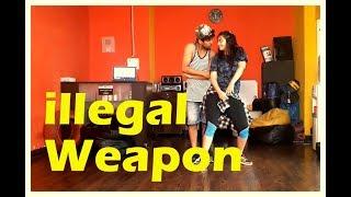 Illegal Weapon Dance | JASMINE SANDLAS Feat GARRY SANDHU | Vicky And Aakanksha
