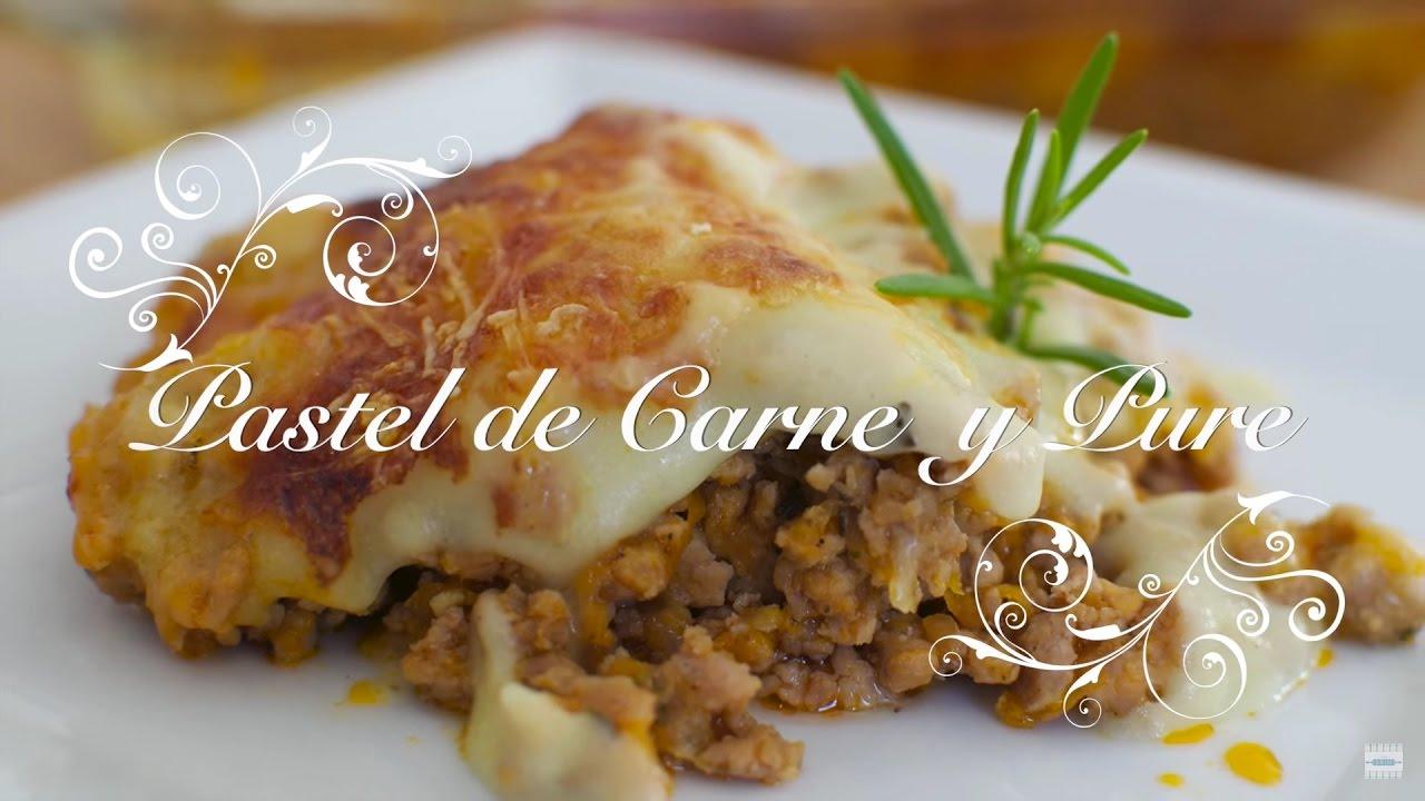Pastel de Carne y Puré de Patatas al Microondas  | Pastel de carne con pure de patatas