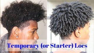 Easy Finger Coils For Natural Men (AKA Temporary Or Starter Locs)