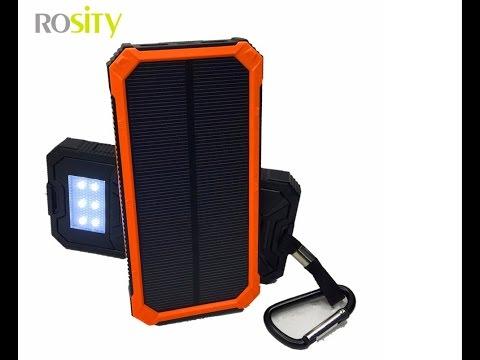 Обзор PowerBank на солнечных батареях Rosity 20000 мАч PBDLH2W