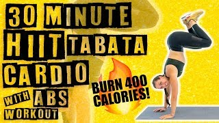 30 Minute HIIT Tabata Cardio with Abs Workout  by Sydney Cummings
