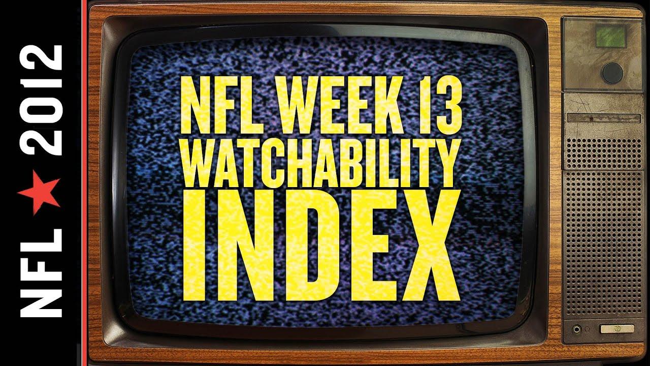 NFL Week 13 Watchability Index thumbnail