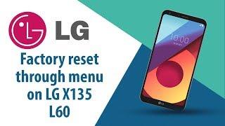 How to Factory Reset through menu on LG L60 X135?
