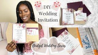 DIY Wedding | How To DIY Wedding Invitations With Pockets | Spring Wedding