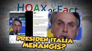 Hoax or Fact: Presiden Italia Menangis karena Terbatasnya Lahan untuk Mengubur Korban Virus Corona?