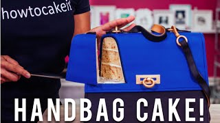 How To Make A KATE MIDDLETON HANDBAG CAKE With Toffee Vanilla Cake