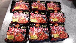 극단적 인 불닭 볶음면 도전! / Extreme Korean Fire Noodle Challenge! (1,000,000 Subscriber Special)