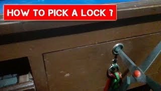 How to Pick a lock with scissor ??  How to Open Lock Without Key