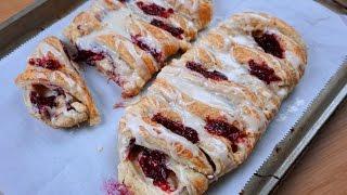 Raspberry Cream Cheese Danish Recipe - Whats For Din? - Courtney Budzyn - Recipe 104