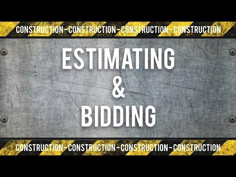 Construction Estimating and Bidding Training - YouTube