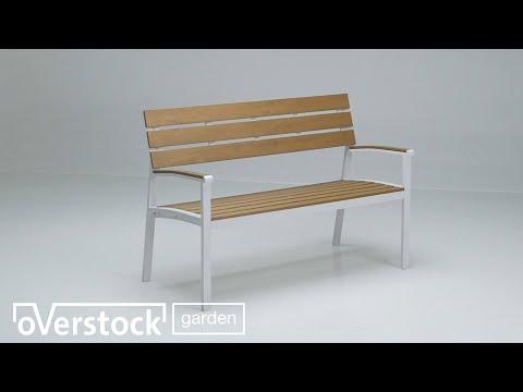 Banc de jardin Patio blanche - aluminium et polywood