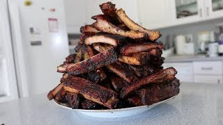 100 Pork Ribs vs Matt Stonie (15,000+ Calories)
