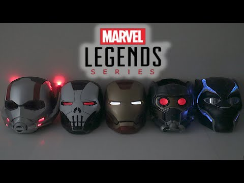 MARVEL MONDAY   Marvel Legends Series Electronic Helmet Collection Unboxing and Review
