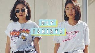 DIY Thrift Tshirts - Transform Graphic Tees!