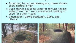 Megalithic monuments in Czech republic, Europe, (in english)