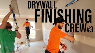 DRYWALL FINISHING CREW TAPING A UNIT IN 30 MINUTES | Drywall Finishing Construction Series #3