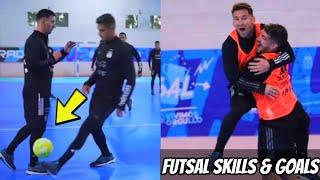 Lionel Messi FUTSAL Skills & Goals in Argentina Training Session