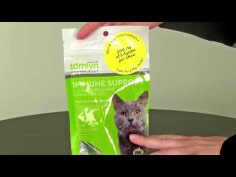 Tomlyn L-Lysine Immune Support Supplement Chews for Cats (30 Count) Video