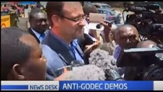 NASA supporters stage demos against Amb. Robert Godec in Gigiri