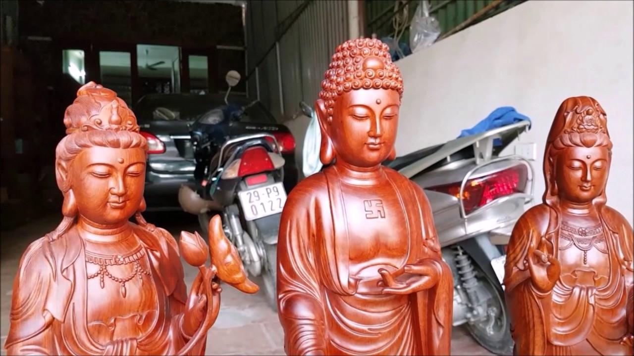 Bộ tượng Tây Phương Tam Thánh đứng