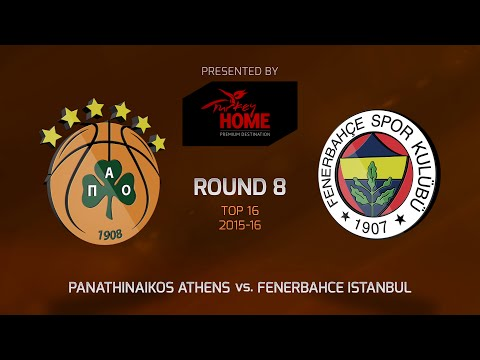 Highlights: Top 16, Round 8, Panathinaikos Athens 76-71 Fenerbahce Istanbul