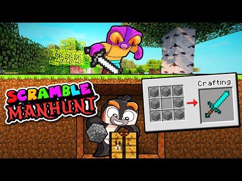 Manhunt But it's Scramble Craft! (Speedrunner vs Hunter)