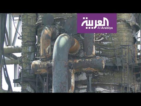 العرب اليوم - شاهد: الصور الأولى والخاصة من موقع الاعتداء في معمل خريص