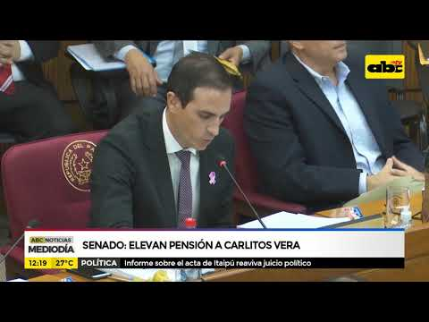Senado: Elevan pensión a Carlitos Vera